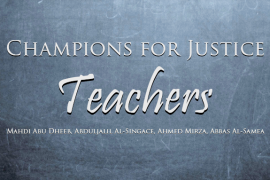 October Champions for Justice: Teachers